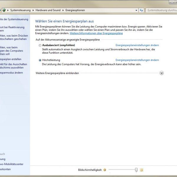 Windows 7 Helligkeit