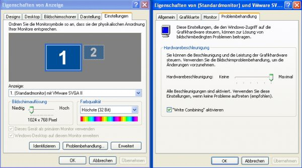 Windows XP Grafikkarteneinstellung