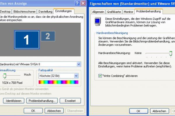 Windows XP Grafikkarteneinstellung