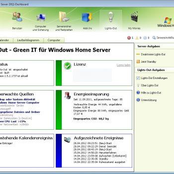 Lights-Out für Windows Home Server 2011 SP2
