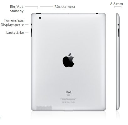 Apple iPad 2 Rückseite